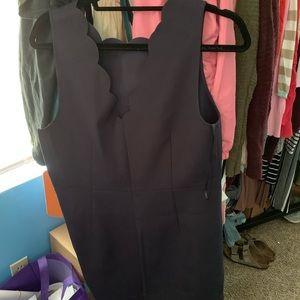 J crew navy blue scallop dress